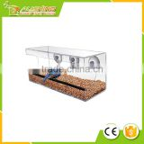 Wholesale 010 Large Window Bird Feeder - Free Detachable Tray Acrylic Plastic bird feeder with water drain holes