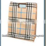 madras check fabric cotton bags