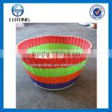 Plastic colored tube braided basket