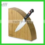 Bamboo semi-circle magnetic knife block Custom bamboo magnetic knife holder