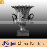 dark color carving human face garden bronze flower pot NTBF-FL123S