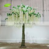 GNW BLS1606001-WT White Artificial Wisteria Tree Decorative Fiberglass Tree Trunk For Wedding Use