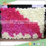high quality personized rose artificial flower wall for indoor and outdoor wedding decoration stage background decoration
