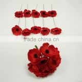 INQUIRY about australia artificial funeral bundle poppy flower