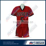 Customized home and away team sublimation soccer uniforms/jerseys/shirts with 100% polyester