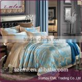 100% Hand embroidery satin Jacquard bedding set duvet cover set bed linen bedclothes bed cover set