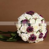2015 fresh elegant artificial flower bouquet/hand make bridal bouquet holder for western wedding