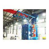 Double Hangers Spinner Shot Blaster Machine , Wheel Cleaning Machine For Bearing Industry
