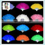 New Costume Wedding Showgirl Dance Folding Hand Feather Fans HPC-0908