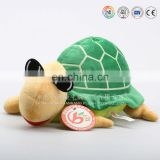 Wholesale cute stuffed sea turtle plush green ball shaped turtle with big eyes