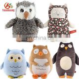 Custom Wholesale Stuffed Animal Cute Mini Pink Big Eyes Black Owl Plush Soft Toy