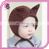 Trendy cotton hot sale cute baby caps cartoon cat ear knit hats