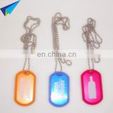 Anodized gold military dog tags with ball chain