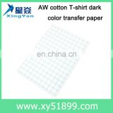 t shirts transfer paper Factory sells directly sublimation/heat transfer paper for cotton-dark sublimation transfer paper