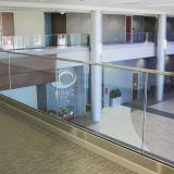 Aluminum / Steel U Channel Frameless Glass Railing for Balcony