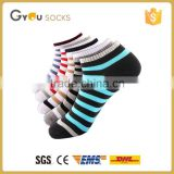 Man's fashion cozy ankle cotton socks boat sock show socks/casual socks with stripes