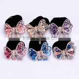 Colorful Rhinestone Crystal Crochet Ribbon Bow Hair Band