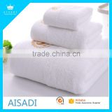 China Market Luxury Plain Terry cloth 100% cotton White Bath Hotel towel set