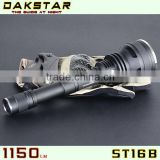 DAKSTAR NEW ST16B 1150LM 18650 CREE LED Side Switch High Power Stepless Dimming Police Best Torch XML U2 LED Flashlight