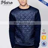 2016 Wholesale Custom Mens Slim Fit Luxe Quilted Sweatshirts