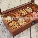 2016 Popular wooden storage box with paint &compartment wooden tea box,coffee box,,essential oil