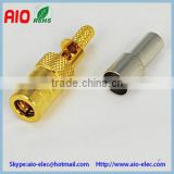open window crimp type SMB female RF connector STRAIGHT CRIMP CABLE:RG174/RG316/RG1 79/RG178/...