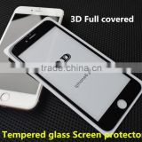 Perfet size!!100% full cover tempered glass screen protector with samll frame for iphone 6 /6 plus