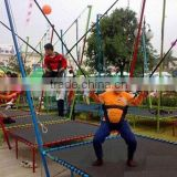 small amusement equipment bungee jumping kids trampoline