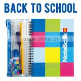 Fashion students notebook with pen stationary product set school