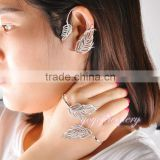 New model arabic ear cuff and palm bracelet designs crystal jewelry set