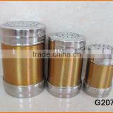 G2077 Stainless Steel Quality With Color Print Spice Shaker