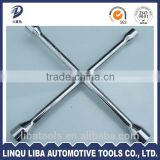 17,19,21,22mm Heavy Duty China Tool Quality Forged Carbon Steel X Type Wrench Socekt Wrench