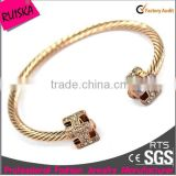 new fashion design ladies jewelry rhinestone colorful alloy crystal open bangle