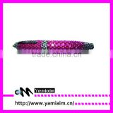 2015 stylish rhinestone writing pen with customized colors
