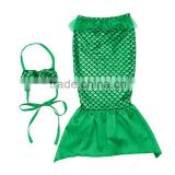 Boutique kids swimwear sets wholesale tail mermaid swimming