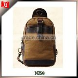 Waxed canvas travel bag canvas travel shoe bag canvas and leather backpack