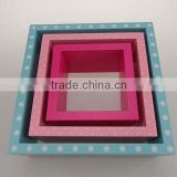 set of 3 MDF colorful wall shelf wall cubes wall cube shelves