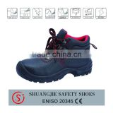 S1P certificate supplied Mid-East style embossed cow/buffalo leather safety boots for work time