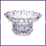 Clear Pressed Candle holder glass