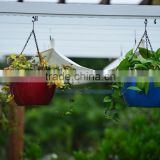hanging flower pot , Home Garden Plastic Flower Pot ,Hanging Planter With Iron,hanging basket,