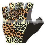 cycling glove/non-slip bicycle glove/pro bike glove men half finger pro team cycling clothing Sexy Leopard Grain