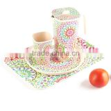 Food Grade Eco-friendly Bamboo Fiber Children Tableware