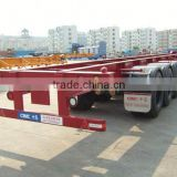 tri axle 50 Tons platform trailers for heavy duty for sale with good price (air suspension optional) for Angola\Congo