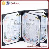 fancy restaurant menu / leather cover menu for restaurant or hardcover menu / interior design