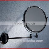 2014 new design ajustable wall mounted bathroom bath double side make up mirror for shower