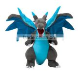 Anime Pokemon Plush Toys Mega Evolution Charizard Soft Stuffed Plush Doll Cartoon Gift For Kids