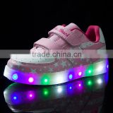 2016 colorful children's LED Light Shoes with buckle strap