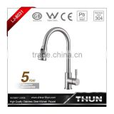 High end single handle cold and hot water kitchen faucet