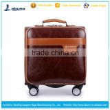 factory wholesale 16 inch PU pilot case luggage travel bag laptop trolley bag luggage case