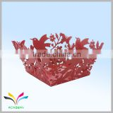 Made in China wholesale high quality embossing fancy beautiful decorative metal storage basket for fruit